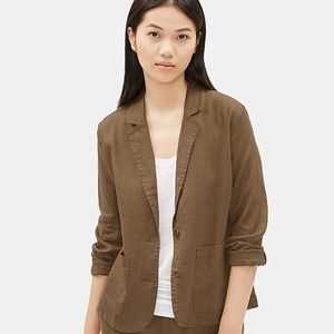 Eileen Fisher ORGANIC LINEN NOTCH COLLAR BLAZER